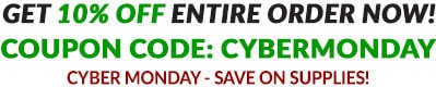 10% OFF Cyber Monday - Coupon Code: CYBERMONDAY